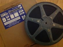 Film delivery this morning, we're slowly building another 16MM show, really hope we can bring it to you in 2014.